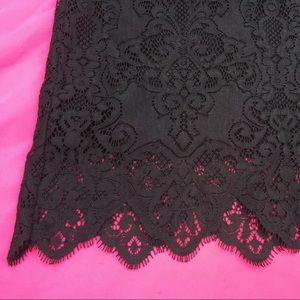 For Love And Lemons Skirts - For Love & Lemons Black Midnight Lace Mini Skirt